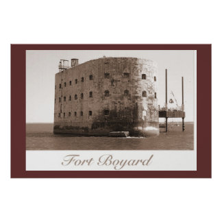 Sepia print, Fort Boyard, TV venue Poster