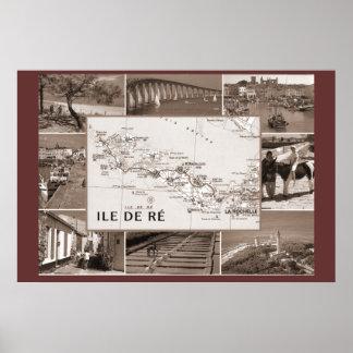 Sepia print  , Ile de Re, former prison colony