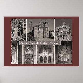 Sepia print, Notre Dame de Rodez, Averyon