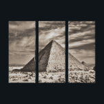 "Sepia Pyramid Canvas Print<br><div class=""desc"">Decorate your space with a sepia themed Egyptian pyramid!</div>"