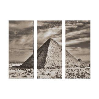 Sepia Pyramid Canvas Print