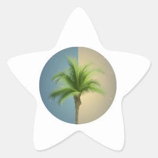 Sepia retra de la crema de las azules turquesas de pegatina en forma de estrella