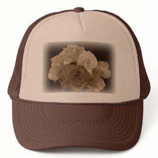 Sepia Rose Bouquet Hats