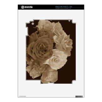 Sepia Rose Bouquet Ipad 2 Skins