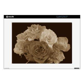 Sepia Rose Bouquet Laptop Skins