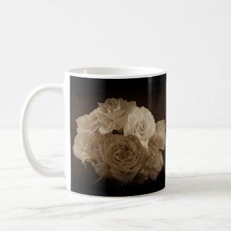 Sepia Rose Bouquet Mug