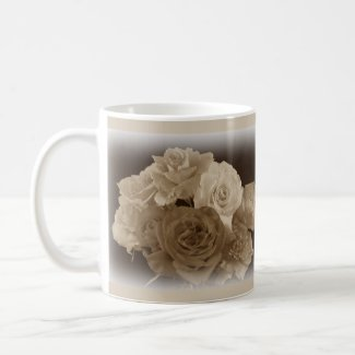 Sepia Rose Bouquet Mugs