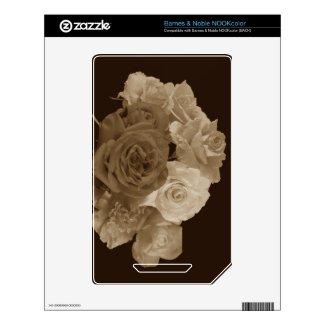Sepia Rose Bouquet Nook Color Skin