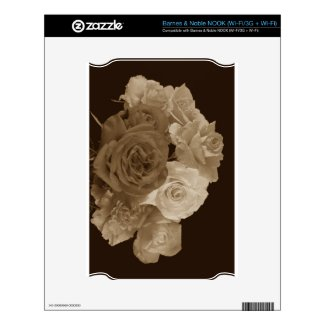 Sepia Rose Bouquet Nook Skin