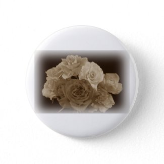Sepia Rose Bouquet Pin
