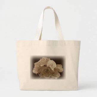 Sepia Rose Bouquet Tote Bag