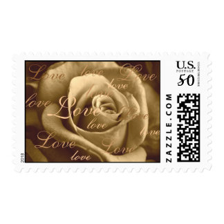 Sepia Rose ~ full of love Postage