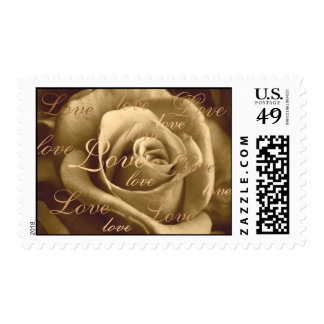 Sepia Rose ~ full of love Postage Stamps
