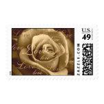 Sepia Rose ~ full of love Stamps