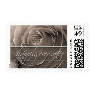 Sepia Rose-Happily Ever After Wedding Postage