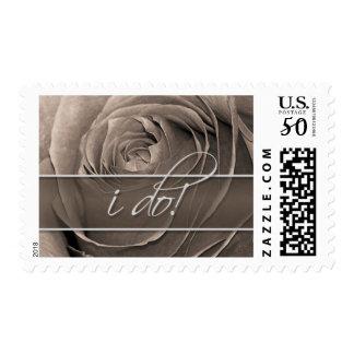 Sepia Rose-I Do! Wedding Postage