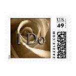 Sepia Rose I Do Wedding Postage Stamp