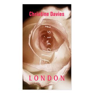 Sepia rose macro photograhy, florist business card