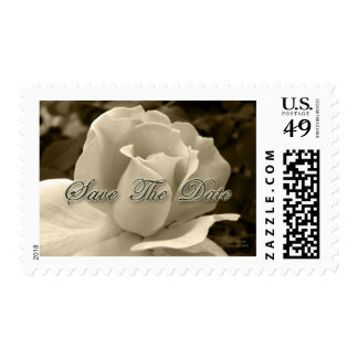 Sepia Rose Save the Date Postage