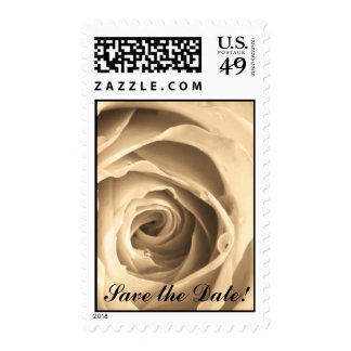 Sepia Rose, Save the Date! Postage Stamps