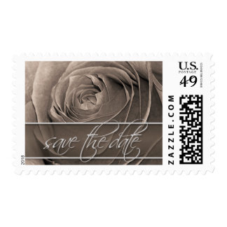 Sepia Rose-Save The Date Wedding Postage