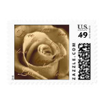 Sepia Rose - Small Stamp