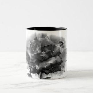 sepia rose Two-Tone coffee mug