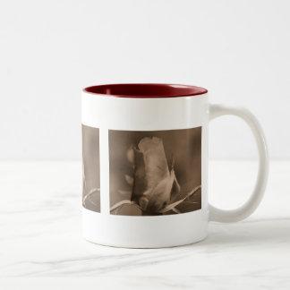 Sepia Rosebud Flower Photography Coffee Mug