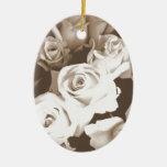Sepia Roses Ornament