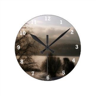 Sepia Round Clock