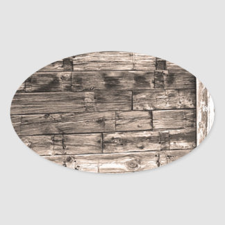 Sepia Rustic Old Colorado Barn Door and Window Oval Sticker