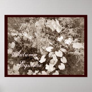 Sepia salvaje de Mabon del equinoccio del otoño Poster