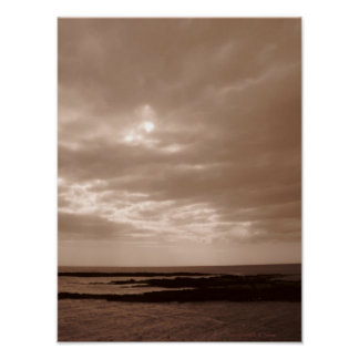 Sepia Sea and Sky Print