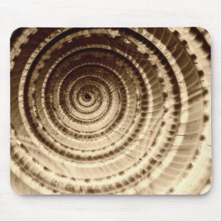 Sepia Seashell Abstract Mouse Pad