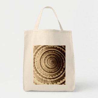 Sepia Seashell Grocery Tote