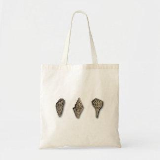 Sepia Seashell Trio Tote Bag