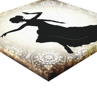Sepia Siren belly dancer wall art