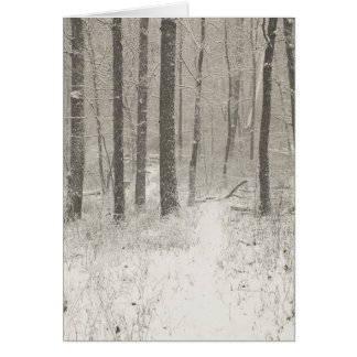 Sepia Snow Scene Card