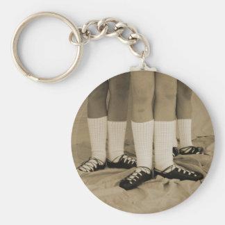 Sepia Soft Shoes Keychain