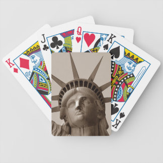 Sepia Statue of Lady Liberty Poker Playing Cards