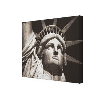 Sepia Statue of Liberty NYC Canvas Print