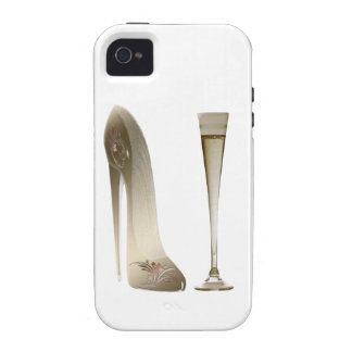 Sepia Stiletto Shoe and Celebration Champagne Vibe iPhone 4 Covers