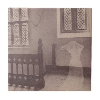 Sepia Strange Antique Visual Castle Ghost Tile
