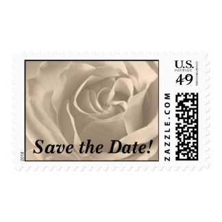 Sepia Sweetheart Rose, Save the Date! Postage Stamps