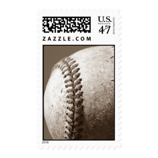 Sepia Tone Baseball Postage Stamps