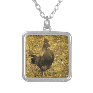 Sepia Tone Crowing Rooster Pendants