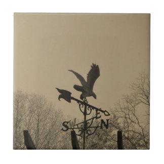 Sepia Tone Eagle Weather vane Tile