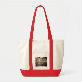 Sepia Tone Fierce Tiger Canvas Bag