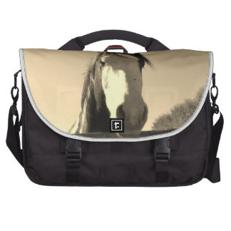 Sepia Tone Horse Bags For Laptop