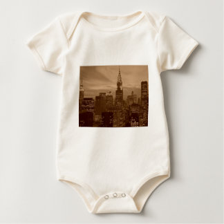 Sepia Tone New York City Baby Bodysuit